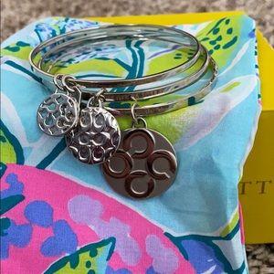 Coach 3 Piece Silver Bracelet Set